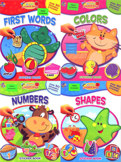 My First Sticker Book: Colors, First Words, Numbers, Shapes