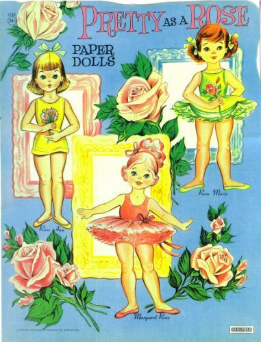 Бумажные куклы. Pretty As a Rose. Paper Dolls