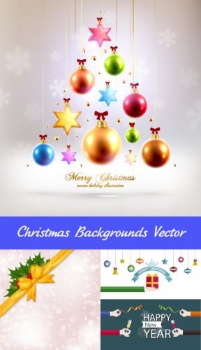 Christmas background with balls by toys Vector