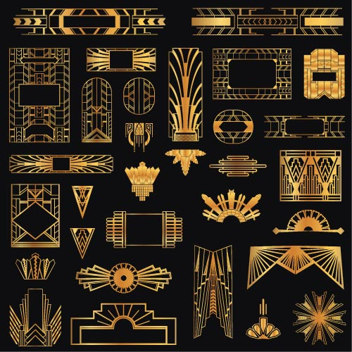 Gold vintage patterns (Vector)