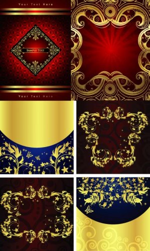 Gold backgrounds of cover (Vector)